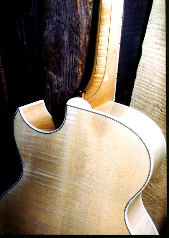 back of carved top acoustic